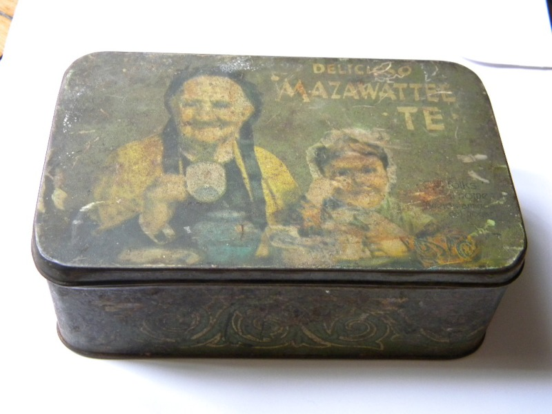 Details about VINTAGE MAZAWATTEE TEA METAL TIN BOX LONDON